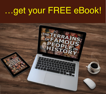 Want to find out the Terrain of Consciousness of John Lennon,  Gandhi, JFK and other famous people from history? Get this FREE eBook now! #TenTerrains