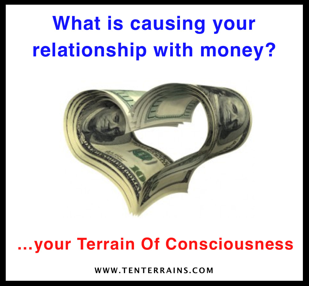 Read this article to learn how your relationship with money arises from your Terrain Of Consciousness